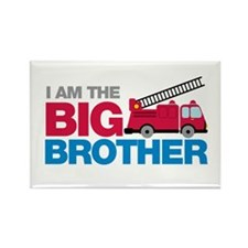 Firetruck Big Brother Rectangle Magnet