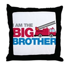 Firetruck Big Brother Throw Pillow