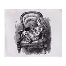 Alice and the Kitty Throw Blanket
