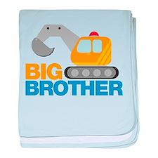 Digger Big Brother baby blanket
