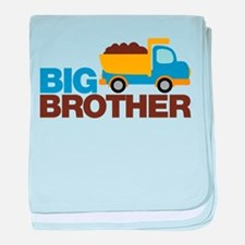 Dump Truck Big Brother baby blanket