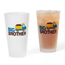 Dump Truck Big Brother Drinking Glass