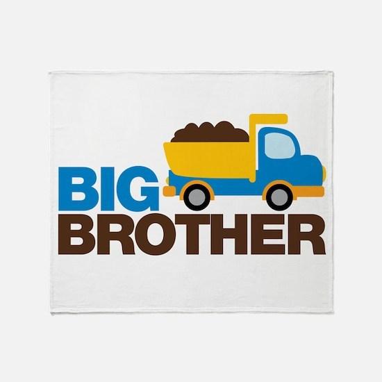 Dump Truck Big Brother Throw Blanket