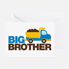 Dump Truck Big Brother Greeting Card