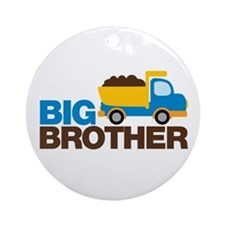 Dump Truck Big Brother Ornament (Round)