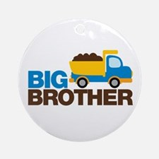 Dump Truck Big Brother Ornament (Round)