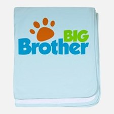 Paw Print Dog Big Brother baby blanket