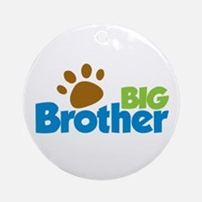 Paw Print Dog Big Brother Ornament (Round)