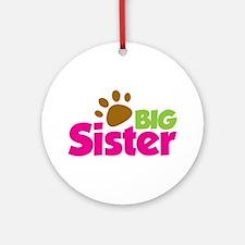 Paw Print Dog Big Sister Ornament (Round)