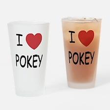 I heart pokey Drinking Glass