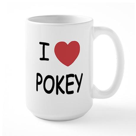 I heart pokey Large Mug