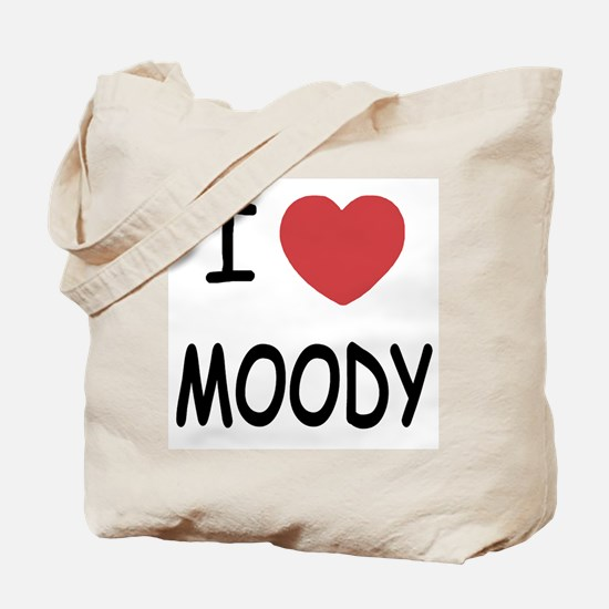 I heart moody Tote Bag