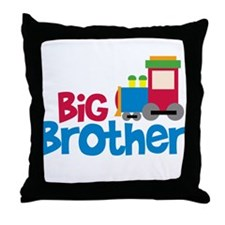 Train Engine Big Brother Throw Pillow