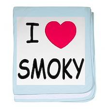 I heart smoky baby blanket