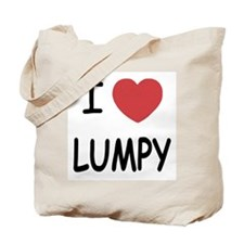 I heart lumpy Tote Bag