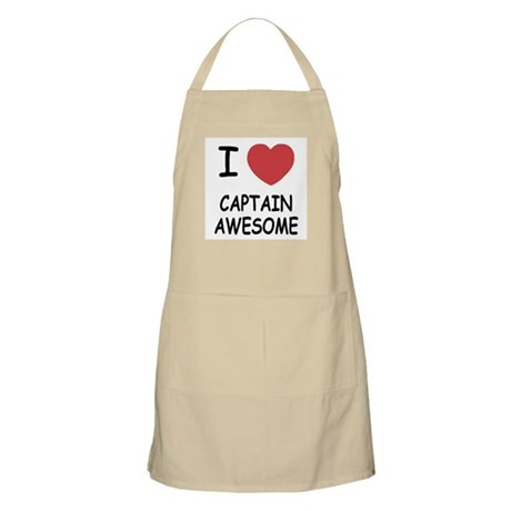 I heart captain awesome Apron