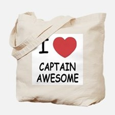 I heart captain awesome Tote Bag
