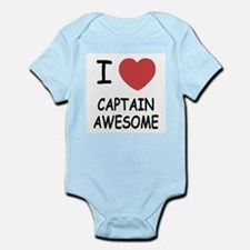 I heart captain awesome Infant Bodysuit