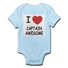 I heart captain awesome Onesie