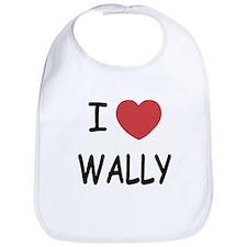 I heart wally Bib