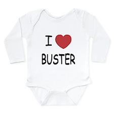 I heart buster Long Sleeve Infant Bodysuit