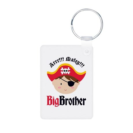 Brown Hair Pirate Big Brother Aluminum Photo Keych