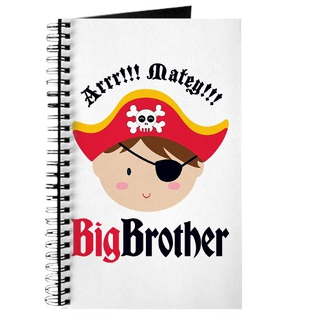 Brown Hair Pirate Big Brother Journal