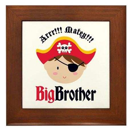 Brown Hair Pirate Big Brother Framed Tile