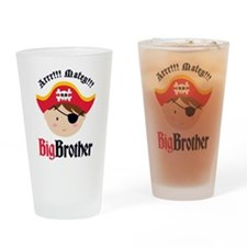Brown Hair Pirate Big Brother Drinking Glass