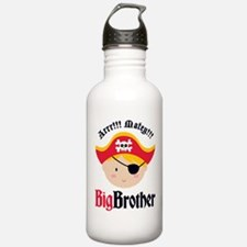 Blonde Hair Pirate Big Brother Water Bottle