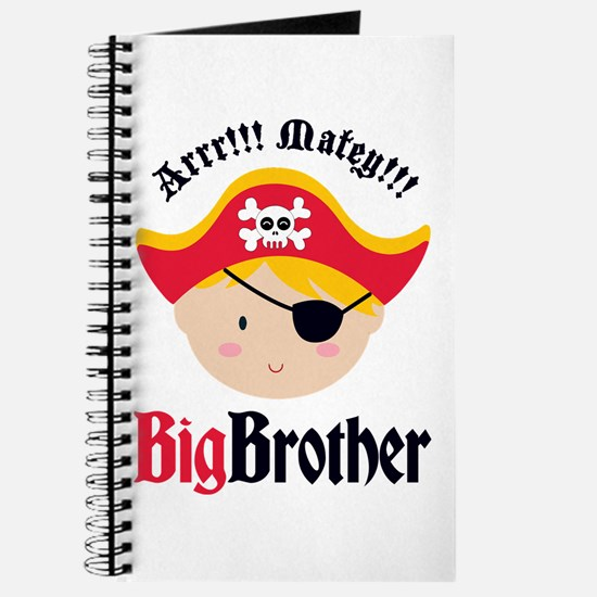 Blonde Hair Pirate Big Brother Journal