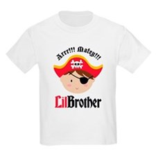Brown Hair Pirate Little Brother T-Shirt