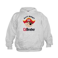 Brown Hair Pirate Little Brother Hoody