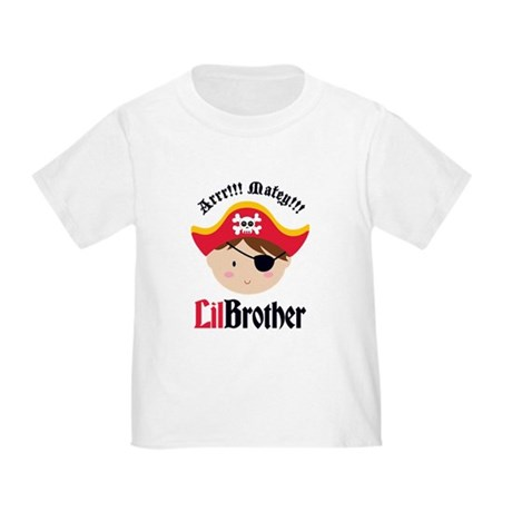 Brown Hair Pirate Little Brother Toddler T-Shirt