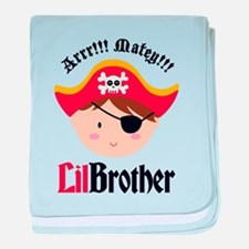Brown Hair Pirate Little Brother baby blanket