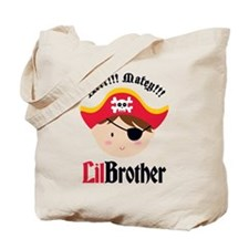 Brown Hair Pirate Little Brother Tote Bag
