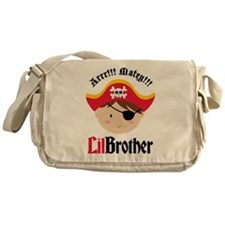 Brown Hair Pirate Little Brother Messenger Bag