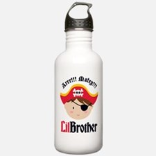 Brown Hair Pirate Little Brother Water Bottle