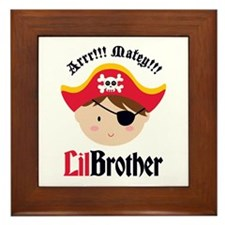 Brown Hair Pirate Little Brother Framed Tile