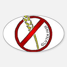 Gluten Free Sticker (Oval)