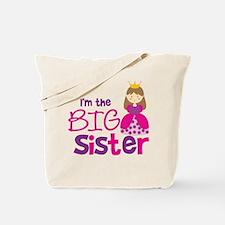 Brown Hair Princess Big Siste Tote Bag