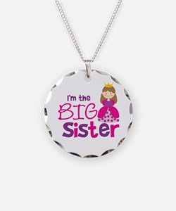 Brown Hair Princess Big Siste Necklace