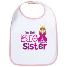 Brown Hair Princess Big Siste Bib
