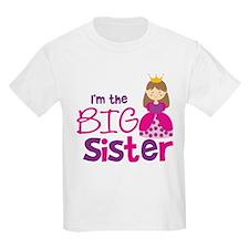 Brown Hair Princess Big Siste T-Shirt