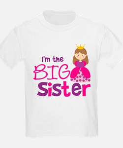 Brown Hair Princess Big Siste T-Shirt