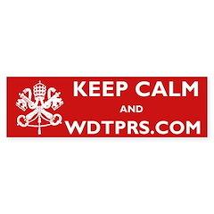 KEEP CALM WDTPRS.COM Bumper Sticker