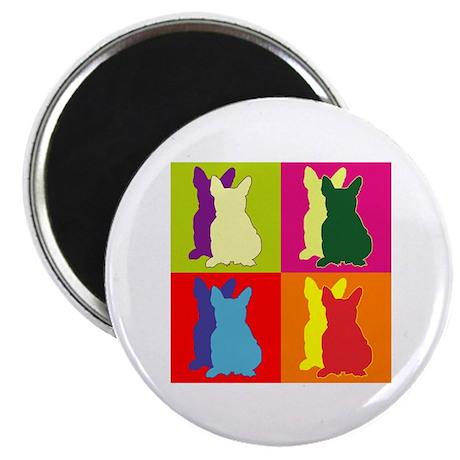 "French Bulldog Silhouette Pop Art 2.25"" Magnet (10"