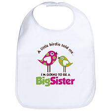 Polka Dot Bird Going to be a Big Sister Bib
