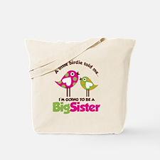 Polka Dot Bird Going to be a Big Sister Tote Bag