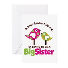 Polka Dot Bird Going to be a Big Sister Greeting C